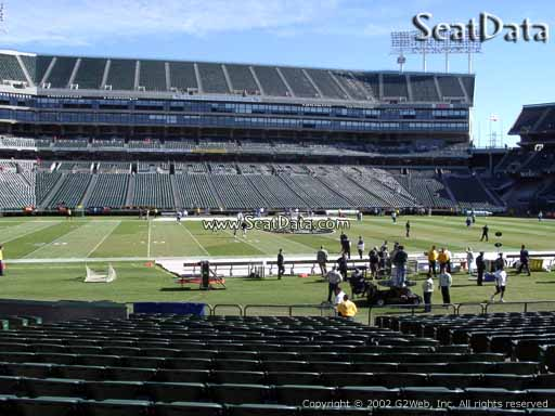Seat view from section 119 at Oakland Coliseum, home of the Oakland Raiders