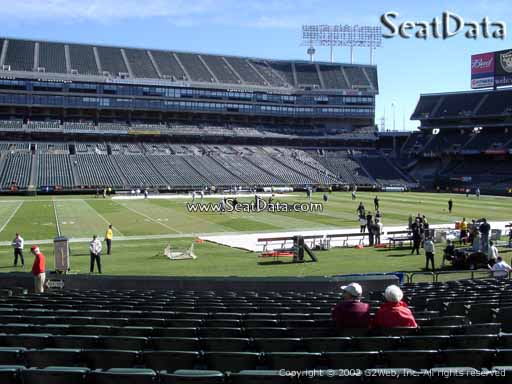 Seat view from section 120 at Oakland Coliseum, home of the Oakland Raiders
