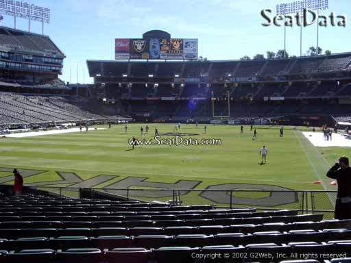 Seat view from section 126 at Oakland Coliseum, home of the Oakland Raiders