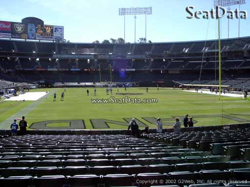 Seat view from section 130 at Oakland Coliseum, home of the Oakland Raiders