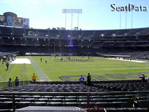 Seat view from section 131 at Oakland Coliseum, home of the Oakland Raiders