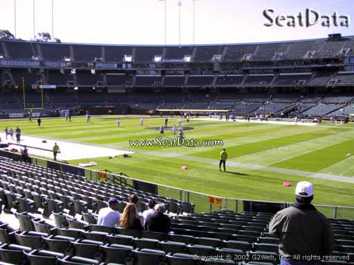 Seat view from section 136 at Oakland Coliseum, home of the Oakland Raiders