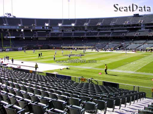 Seat view from section 138 at Oakland Coliseum, home of the Oakland Raiders