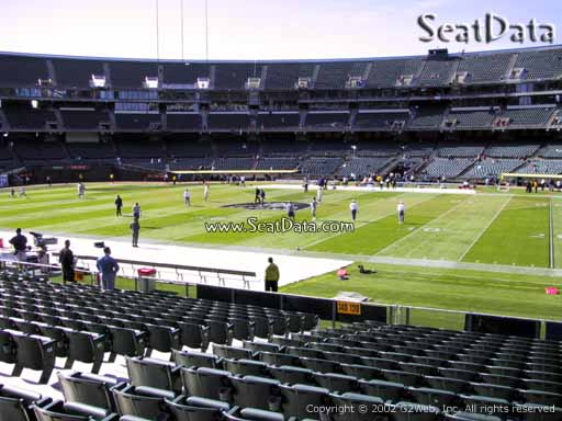 Seat view from section 139 at Oakland Coliseum, home of the Oakland Raiders
