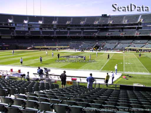 Seat view from section 140 at Oakland Coliseum, home of the Oakland Raiders