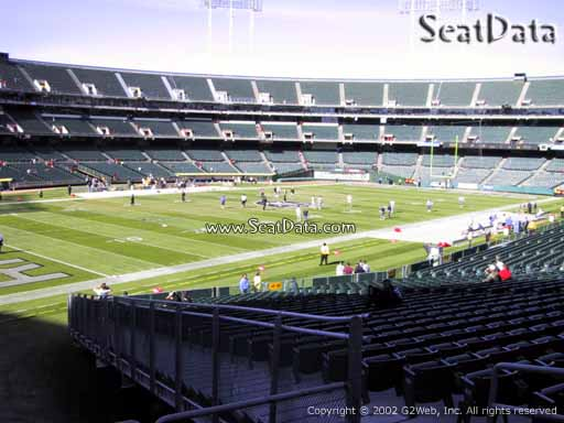Seat view from section 150 at Oakland Coliseum, home of the Oakland Raiders