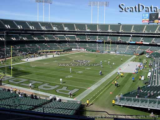Seat view from section 202 at Oakland Coliseum, home of the Oakland Raiders