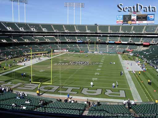 Seat view from section 204 at Oakland Coliseum, home of the Oakland Raiders
