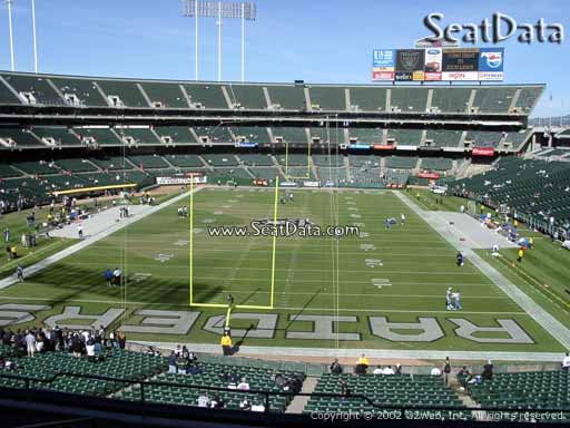 Seat view from section 205 at Oakland Coliseum, home of the Oakland Raiders