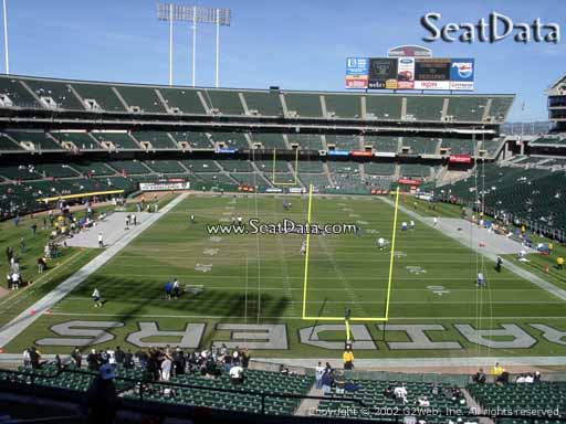 Seat view from section 206 at Oakland Coliseum, home of the Oakland Raiders