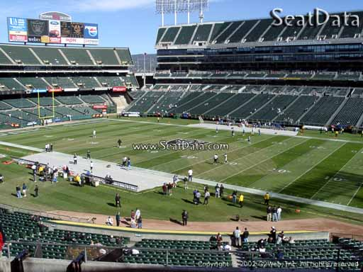 Seat view from section 213 at Oakland Coliseum, home of the Oakland Raiders