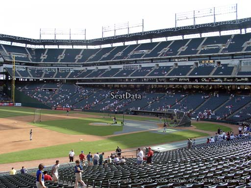 Seat view from section 117 at Globe Life Park in Arlington, home of the Texas Rangers