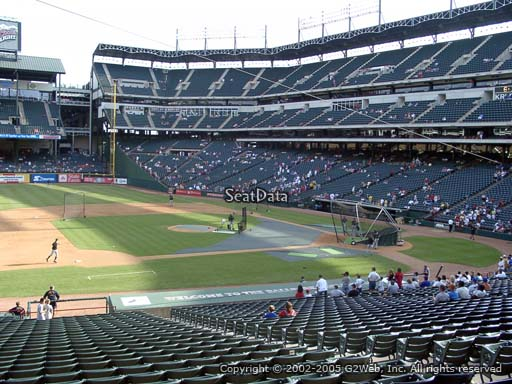 Seat view from section 119 at Globe Life Park in Arlington, home of the Texas Rangers