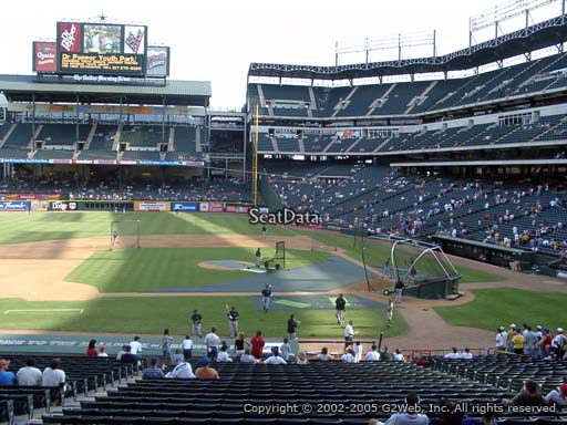 Seat view from section 121 at Globe Life Park in Arlington, home of the Texas Rangers