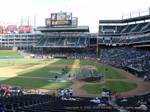 Seat view from section 123 at Globe Life Park in Arlington, home of the Texas Rangers