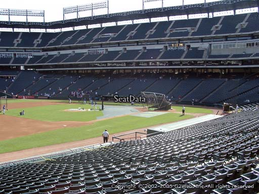 Seat view from section 16 at Globe Life Park in Arlington, home of the Texas Rangers
