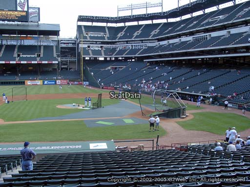Seat view from section 20 at Globe Life Park in Arlington, home of the Texas Rangers