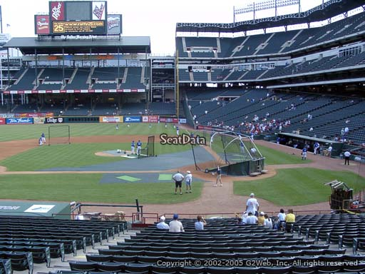 Seat view from section 21 at Globe Life Park in Arlington, home of the Texas Rangers