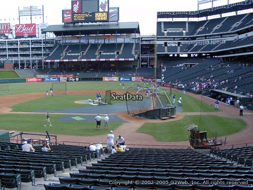 Seat view from section 22 at Globe Life Park in Arlington, home of the Texas Rangers