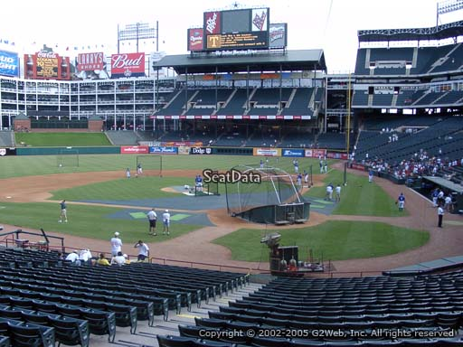 Seat view from section 23 at Globe Life Park in Arlington, home of the Texas Rangers