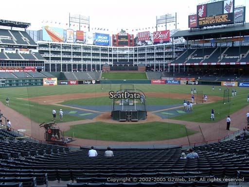 Seat view from section 25 at Globe Life Park in Arlington, home of the Texas Rangers