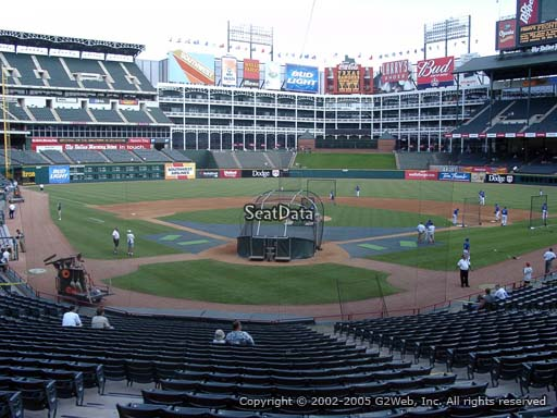 Seat view from section 26 at Globe Life Park in Arlington, home of the Texas Rangers