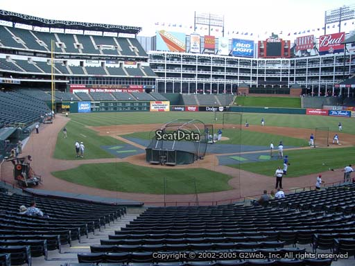 Seat view from section 27 at Globe Life Park in Arlington, home of the Texas Rangers