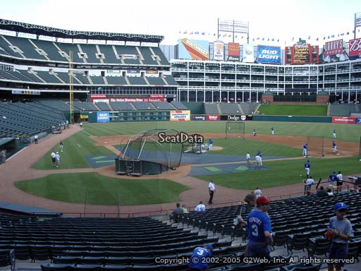 Seat view from section 29 at Globe Life Park in Arlington, home of the Texas Rangers