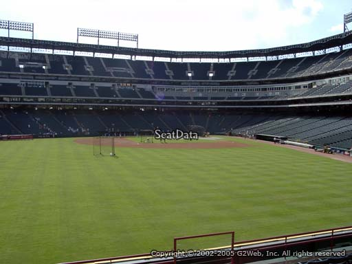 Seat view from section 3 at Globe Life Park in Arlington, home of the Texas Rangers
