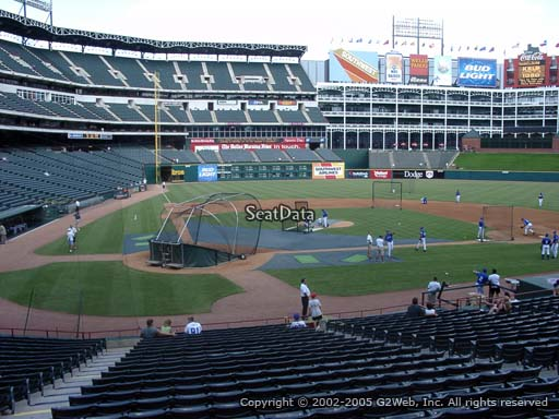 Seat view from section 30 at Globe Life Park in Arlington, home of the Texas Rangers