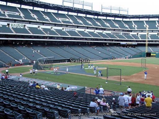 Seat view from section 35 at Globe Life Park in Arlington, home of the Texas Rangers