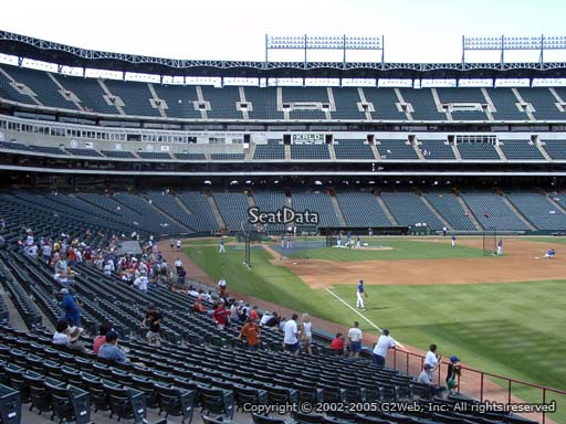 Seat view from section 40 at Globe Life Park in Arlington, home of the Texas Rangers