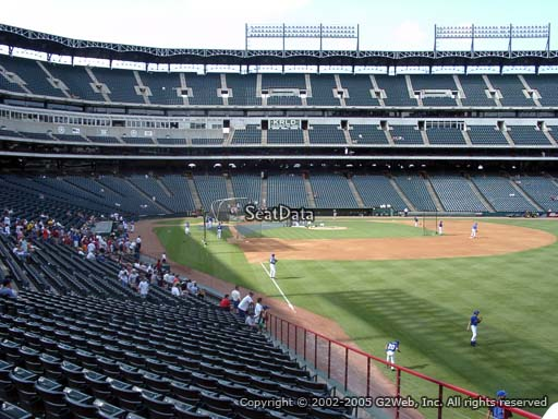 Seat view from section 41 at Globe Life Park in Arlington, home of the Texas Rangers
