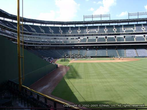 Seat view from section 44 at Globe Life Park in Arlington, home of the Texas Rangers
