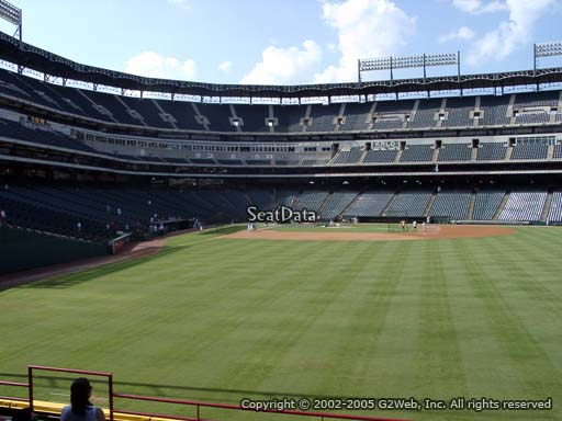 Seat view from section 46 at Globe Life Park in Arlington, home of the Texas Rangers