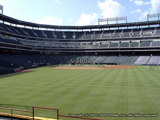 Seat view from section 47 at Globe Life Park in Arlington, home of the Texas Rangers