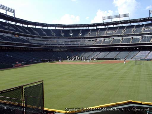 Seat view from section 48 at Globe Life Park in Arlington, home of the Texas Rangers