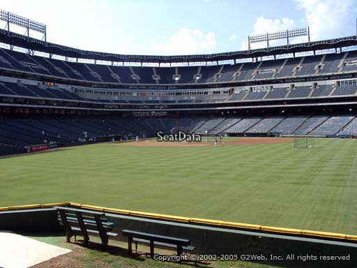 Seat view from section 49 at Globe Life Park in Arlington, home of the Texas Rangers