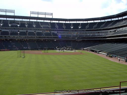 Seat view from section 5 at Globe Life Park in Arlington, home of the Texas Rangers