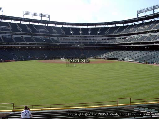 Seat view from section 53 at Globe Life Park in Arlington, home of the Texas Rangers