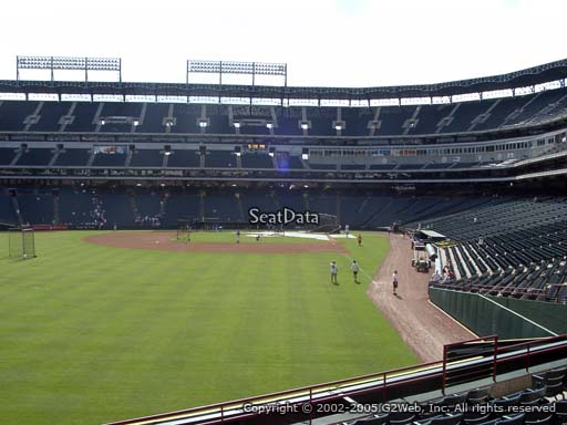 Seat view from section 8 at Globe Life Park in Arlington, home of the Texas Rangers