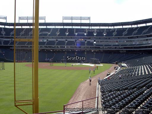 Seat view from section 9 at Globe Life Park in Arlington, home of the Texas Rangers
