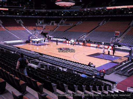 Seat view from section 106 at Scotiabank Arena, home of the Toronto Raptors