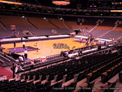 Seat view from section 121 at Scotiabank Arena, home of the Toronto Raptors