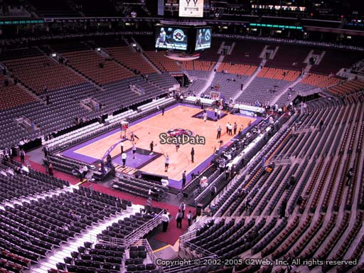 Seat view from section 301 at Scotiabank Arena, home of the Toronto Raptors
