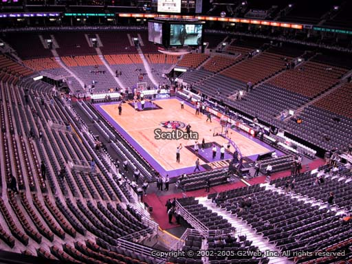 Seat view from section 305 at Scotiabank Arena, home of the Toronto Raptors