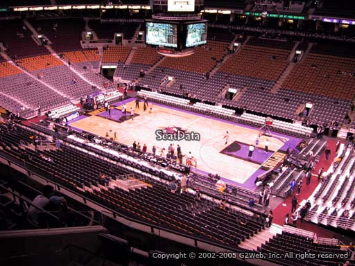 Seat view from section 319 at Scotiabank Arena, home of the Toronto Raptors