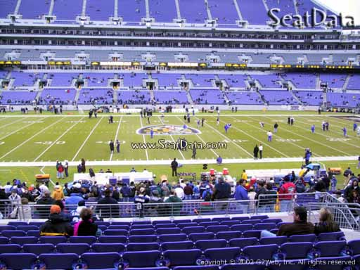 View from Section 100 at M&T Bank Stadium, Home of the Baltimore Ravens