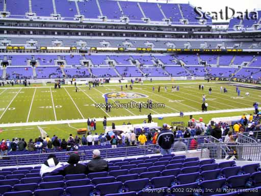 View from Section 101 at M&T Bank Stadium, Home of the Baltimore Ravens