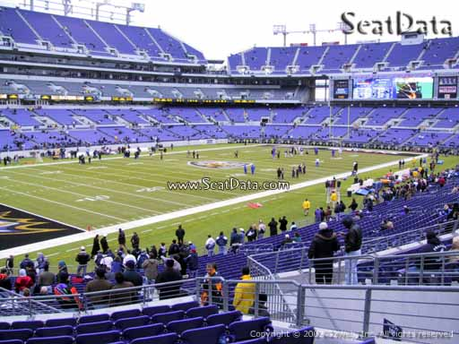 View from Section 106 at M&T Bank Stadium, Home of the Baltimore Ravens
